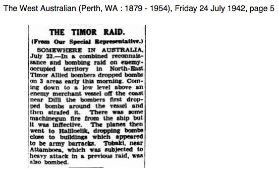 The Timor Raid