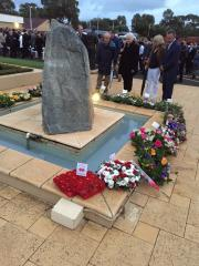 Double Diamonds wreath laid at Swanbourne SAS ANZAC Day memorial service