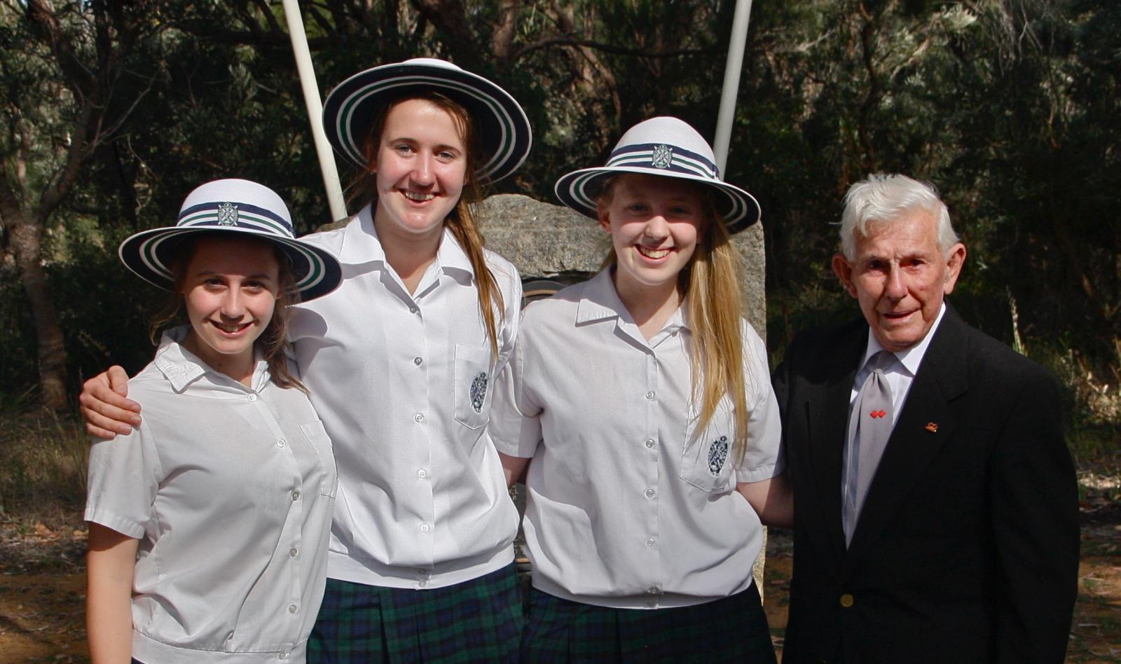Mia Egerton-Warburton, Adelaide Crossing, Grace Newton-Wordsworth and Keith Hayes.