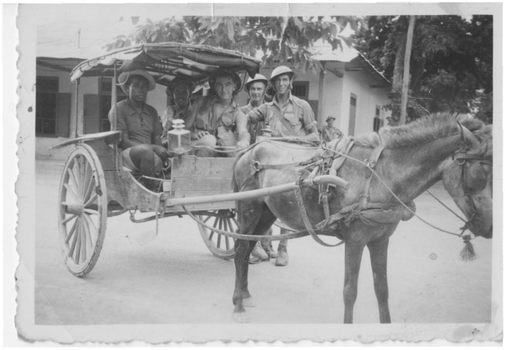 Local cart with 2IC men - Dili Jan 1942.jpeg