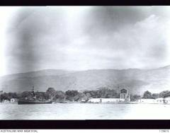 Dili Cathedral viewed from harbour1945.jpg