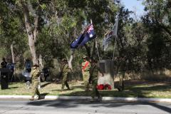 Catafalque party, comprising cadets of 53 Army Cadet Unit, Wanneroo