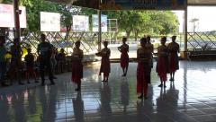 Dili - Arport - Welcome dancers 1.JPG